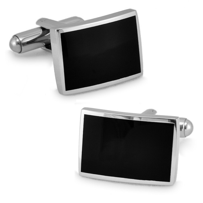 SPARTA Stainless steel + Enamel Cuffliks rectangle simple men's Cuff Links + Free Shipping !!!  metal buttons