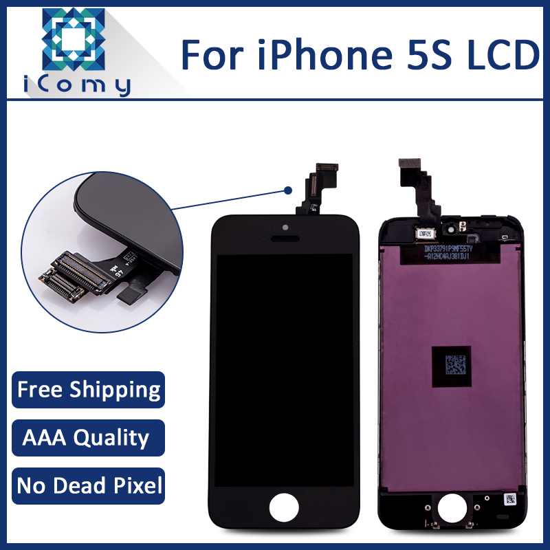Hotsale AAA LCD Digitizer For iPhone 5S Complete LCD Display Screen Assembly Tianma Brand Black White