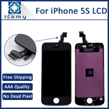 Hotsale AAA LCD Digitizer For iPhone 5S Complete LCD Display Screen Assembly, Tianma Brand, Black White, DHL Free Shipping