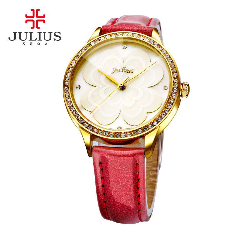 Luxury Brand JULIUS Fashion Watch Female Bracelet Watch Women Leather Strap Quartz Watch Ladies Dress Watches relogio feminino
