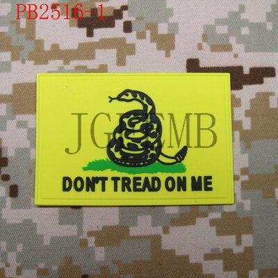 DON/'T TREAD ON ME Snake 3D PVC Patch  St3