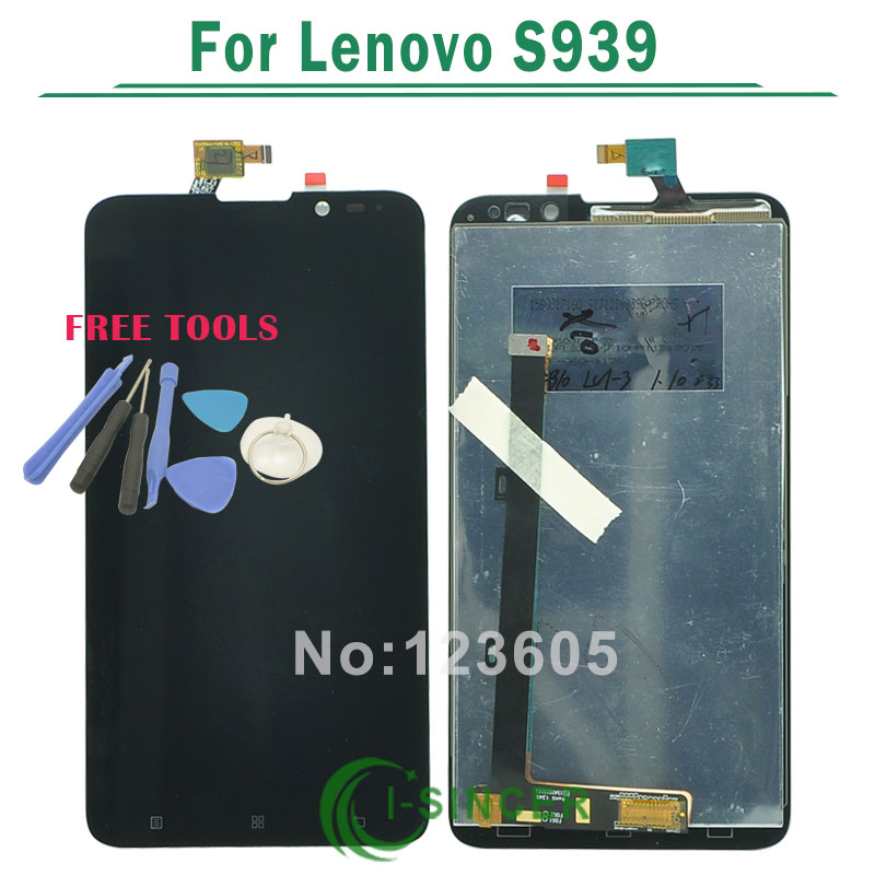 1/PCS replacement LCD Display + Digitizer Touch Screen Assembly For Lenovo S939 Free shipping
