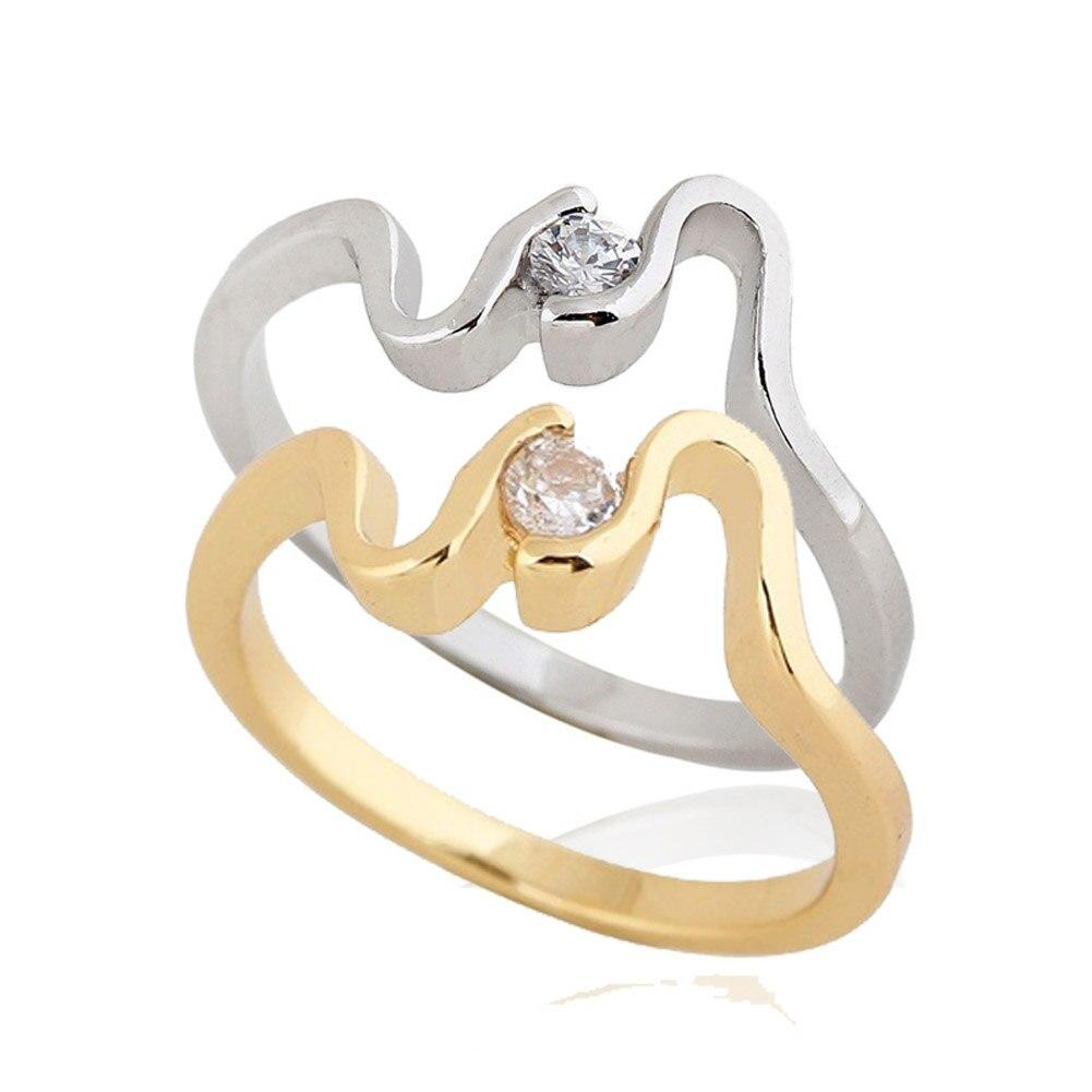 Crystal Rhinestones Rings For Women Elegant Cocktail Ring Finger Ornament Brand Jewerly SL