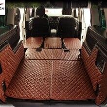Хорошие коврики! Специальные коврики багажника для Volkswagen Sharan-2011 водонепроницаемые коврики для багажника для Sharan