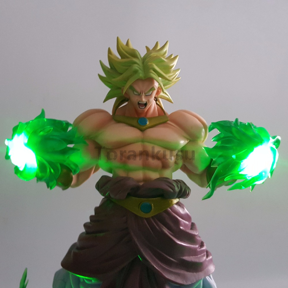Dragon Ball Z Broly Action Figures Super Saiyan Green Power Led