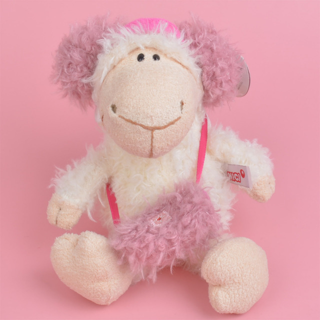 25 50cm Pink Headset Sheep Stuffed Plush Toy For Cute Baby Kids