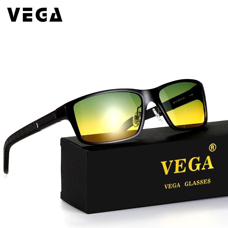 be7b02495 فيغا الألومنيوم إطار بولارويد العدسات المستقطبة يوم ليلة نظارات للقيادة  أفضل نظارات الرؤية الليلية الرجال النساء 8554b