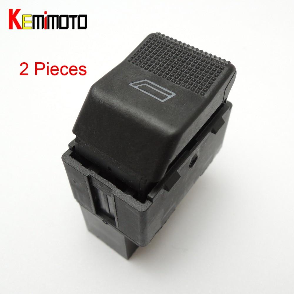 KEMiMOTO 6X0 959 855B 2 * Power Window Commutateur pour VW POLO HAYON 6N2 1999-2001 LUPO 6X1 6E1 2000 2001 2002 2003 6X0959855B