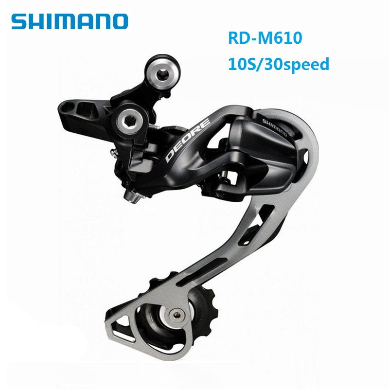 все цены на Bike Rear Derailleur Japan Shimano DEORD RD M610 10S 30S Rear Derailleurs MTB Bicycle Shifter Accessories Salable Product онлайн
