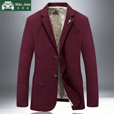 2018 New Brand Jacket Men Blazer Jacket Coat Pure Cotton Fabric Luxury Fashion Casaco Masculino Removable Brooch 5 Colors S-4XL Multan
