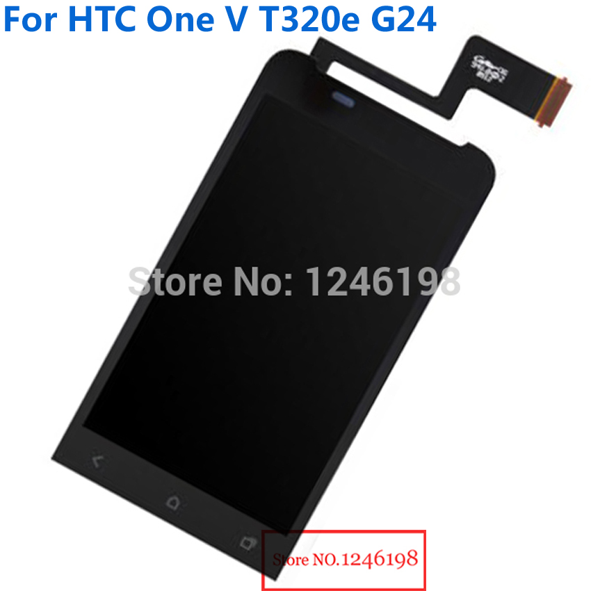 TOP Quality Full LCD Display Touch Screen Digitize Assembly For HTC One V T320e G24 Replacement parts with LOGO Free shipping
