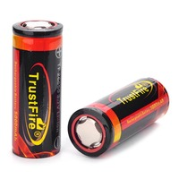 NEW 2 PCS/ lot TrustFire Rechargeable 3.7V 5000mAh 26650 Li-ion Batteries with protection circuit