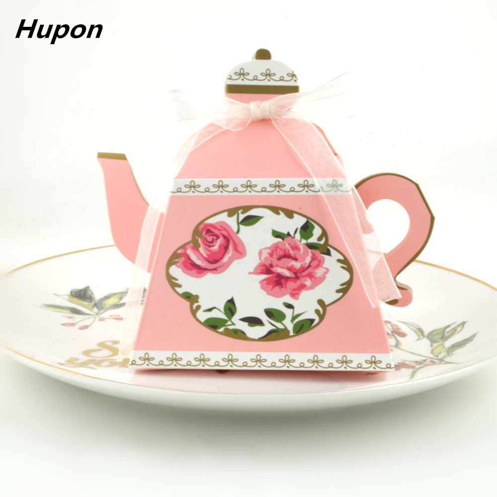 Wedding Gifts For Children: 10Pcs Tea Candy Boxes Party Favors Wedding Gifts For