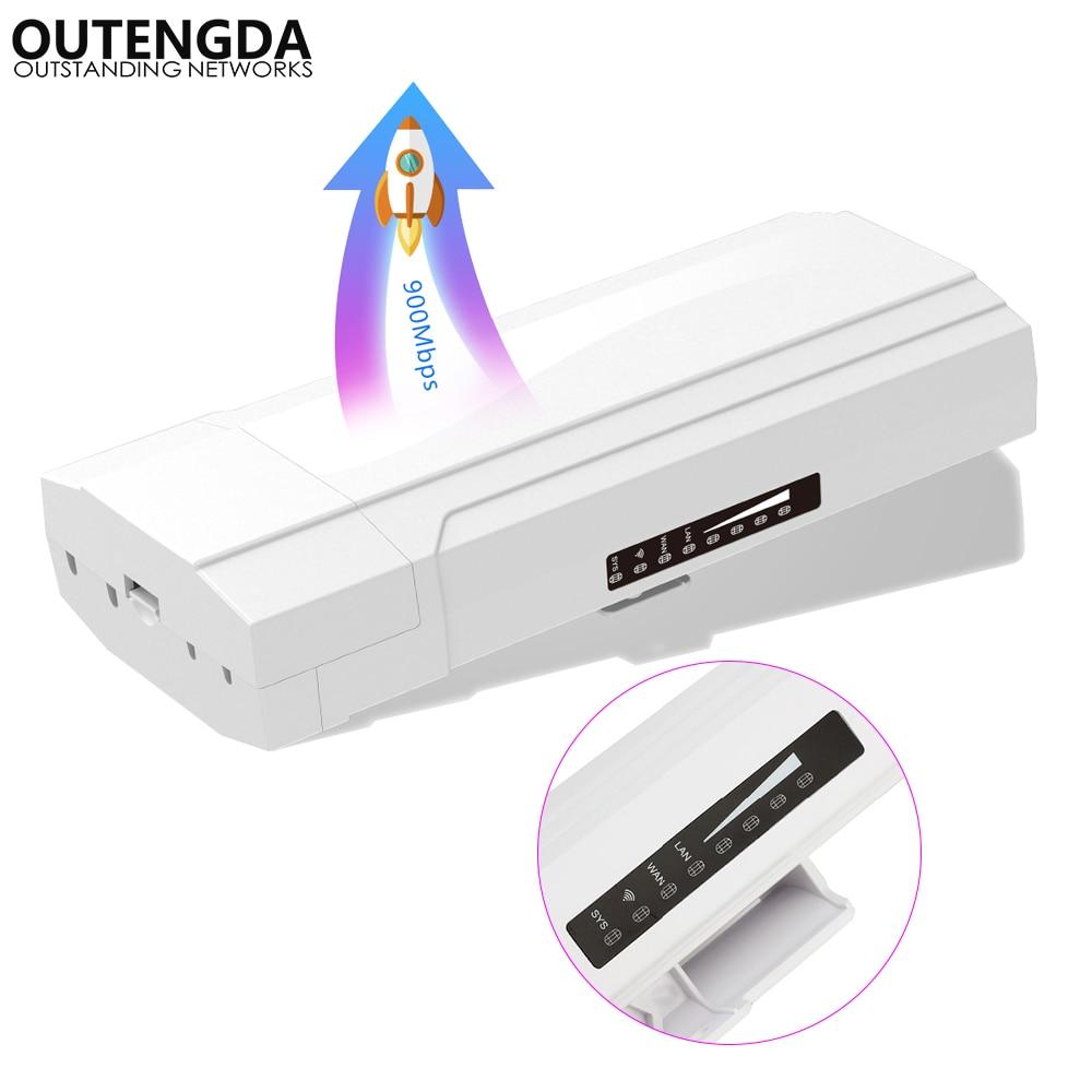 Routeur extérieur PTP de CPE de 802.11ac 900 Mbps 5G 10 KM de Point d'accès de Wifi de gamme répéteur sans fil d'extension de pont de WDS pour la caméra IP