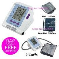 CE FDA CONTEC08C Digital blood pressure monitor SPO2 sensor +2 NIBP Cuffs ,pc software