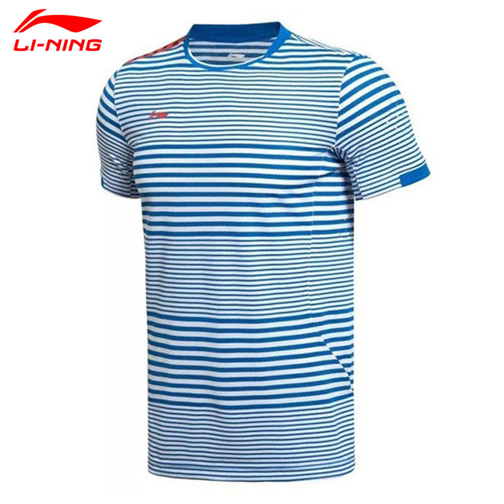 Li-Ning Sudirman Cup Badminton Shirts Lining Mens Professional Match Short Sleeve Breathable Sports T Shirt Tee Li Ning AAYK075
