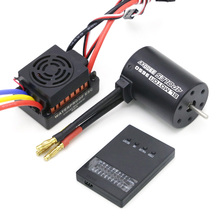 Upgrade Rc Waterproof 3650 3900KV RC Brushless Motor 60A ESC Programmer for 1/10 RC Car Truck Motor kit skyrc leopard 60a esc 9 10 12 13t 4370 3930 3300 3000kv brushless motor program card for 1 10 rc car