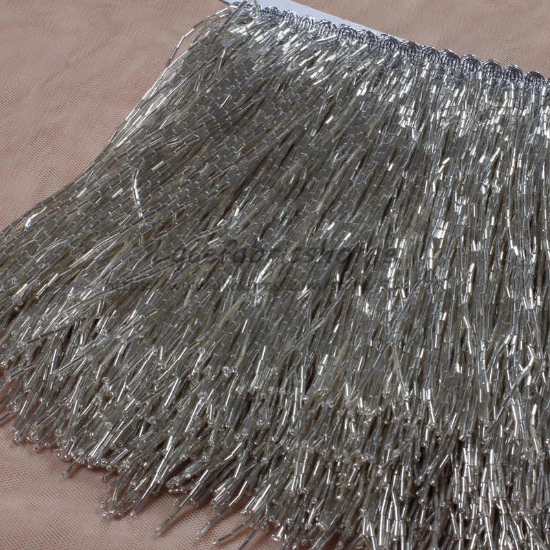 5 5yards New fashion silver gold black beads tassel fringe 15cm width for decoration dress fashion