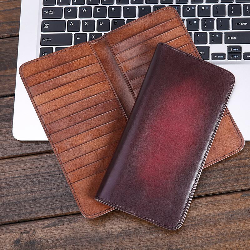TERSE_New release handmade designer card bag genuine leather mens wallet credit card wallet in 2 colors card id holder custom