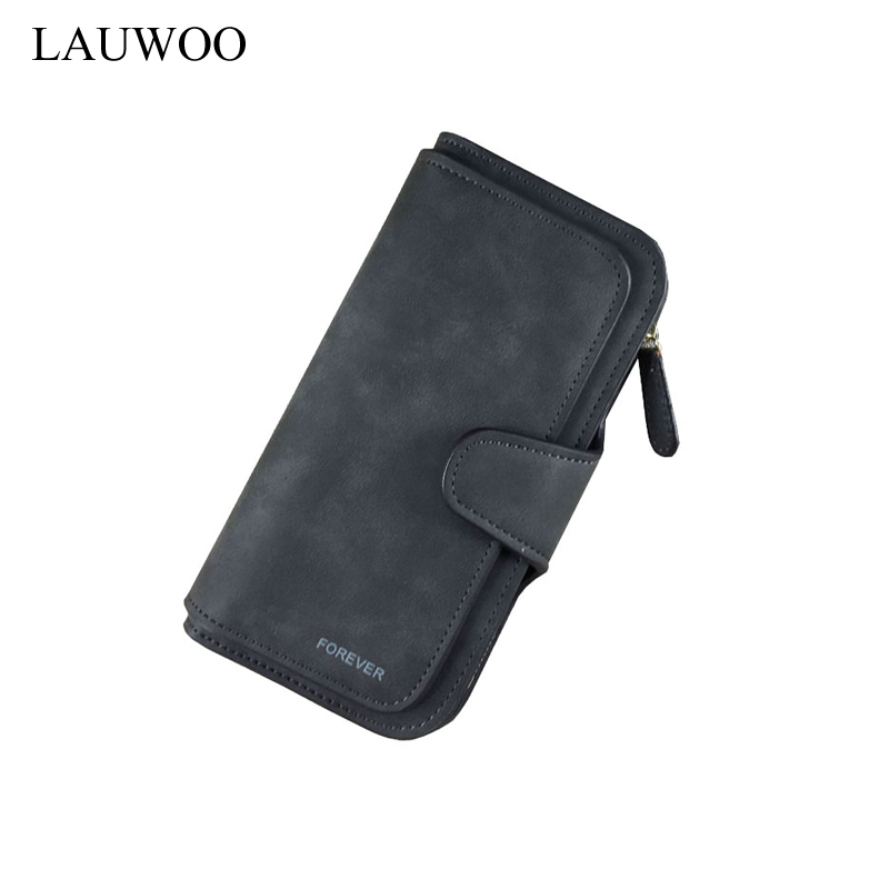 Brand Women Nubuck Leather Long Wallets Female Big Capacity Wallet Retro Matte Zipper Coin Purse Clutches Card Holders Carteira women leather wallets v letter design long clutches coin purse card holder female fashion clutch wallet bolsos mujer brand