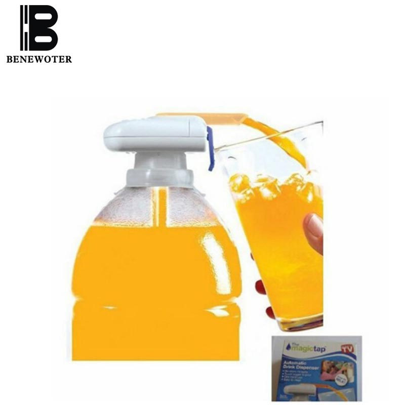 2PCS LOT Home Outdoor Automatic Drink Dispenser Milk Beverage Fruit Juice Straw Magic Tap Electric Water