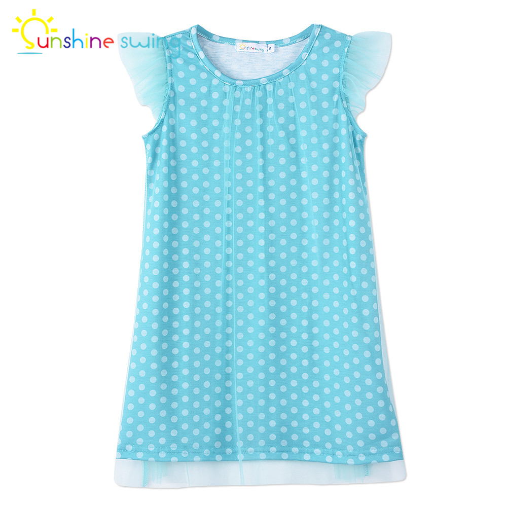Sunshine Swing Baby Girl Cothes 2018 Vestido Dot Print Toddler Dress Summer Casual Girls A-line Midi Princess Dress
