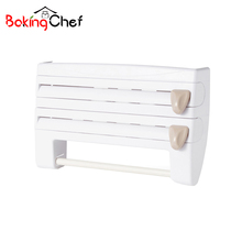 BAKINGCHEF Multifunction plastic wrap Storage Rack Protect Home Organizer Holder Space Accessories Supplies Gear Product Items