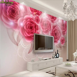 Free Shiping Beibehang Custom Red Rose Murals Wallpaper For Bedroom Walls Pastoral Floral Wall Painting Living Room Decoration 3D Mural Paper