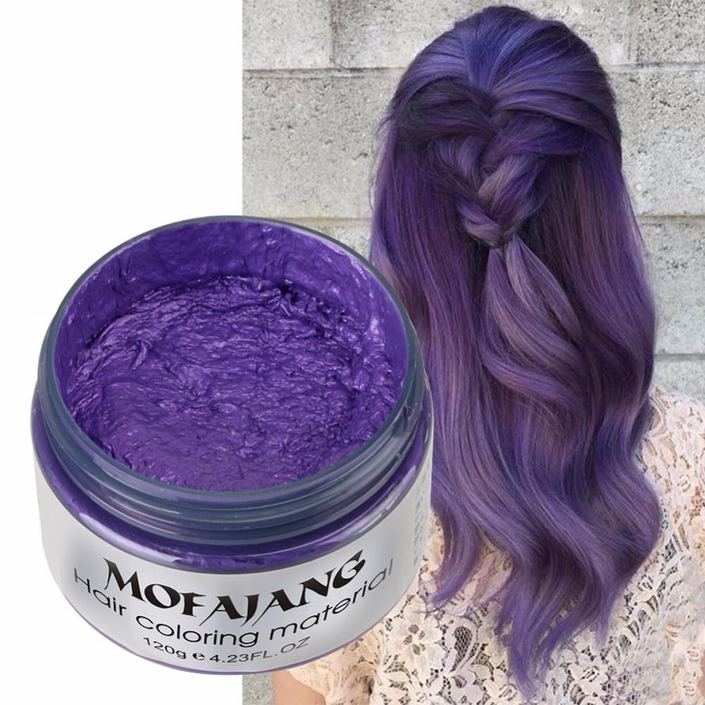 Mud Color Hair Wax Disposable Hair Waxing Pomade DIY Hair Color Pastel Grey Purple Hair Waxin