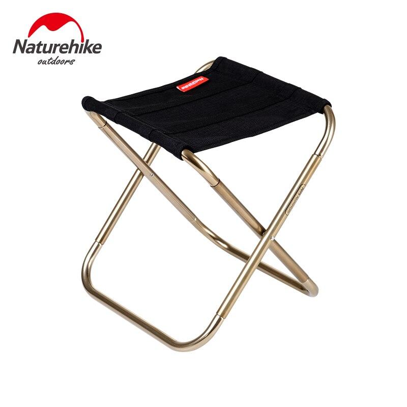 Naturehike taburete silla plegable al aire libre de la aleación de aluminio de pesca silla portátil de senderismo al aire libre respaldo ultraligero barbacoa taburete