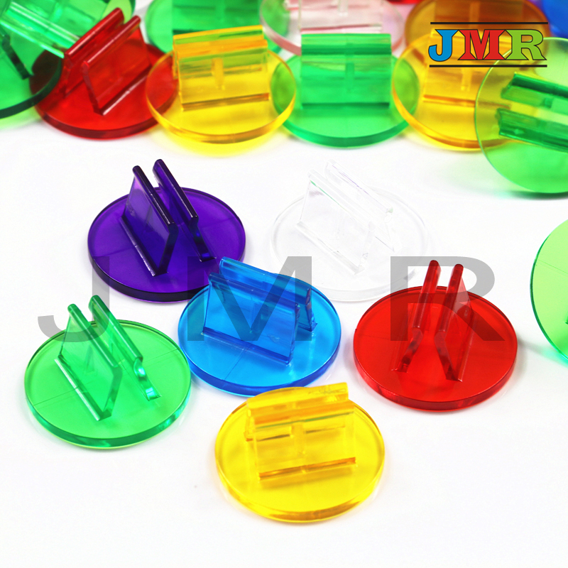 High Quality 50pcs/Tube Rainbow Translucent Plastic Game Card Stands,Boardgame Pieces/Accessories,Perfect For 2mm Cards