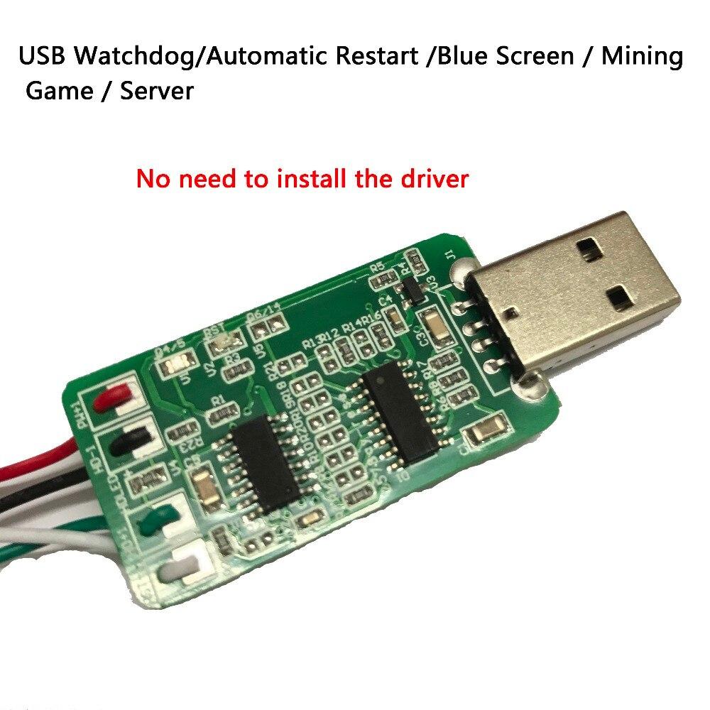 USB Watchdog Card / Computer / Unattended Automatic Restart Blue Screen / Mining / Game / Server 24 hours Computer Sensor Switch