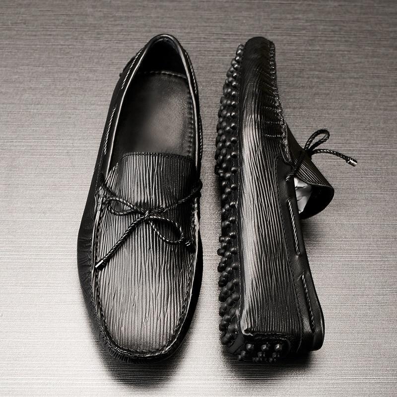 Sapatos Shoesmen Genuíno Preto Vestido De Condução Casuais Couro Preguiçosos Negócios Mocassins Homens Primavera v5SqvxOd