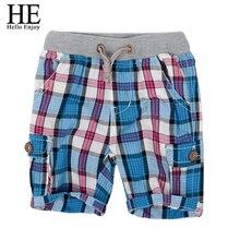HE Hello Enjoy boys shorts 2019 fashion plaid baby boys shorts summer children chothing kids pants
