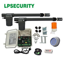 400KGS Gate Opener Piston Driving Electric Swing Gate Opener con sensors lamp wireless keypad optional y 2 transmitters