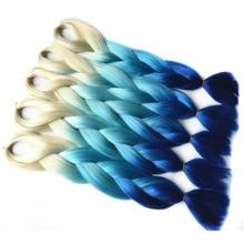 Chorliss 24″(65cm) 613TL.BlueTblue  Synthetic Hair Extensions Crochet Braids Jumbo Braids Ombre Braiding Hair 100g/pack 1pc