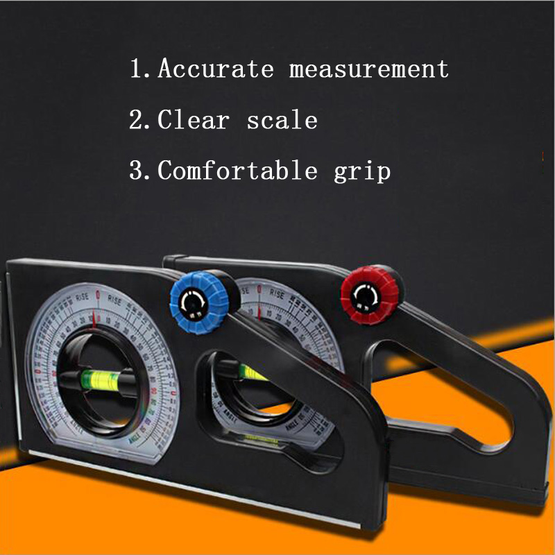 Engineering Inclinometer ABS Universal Slope Measuring Ruler Multifunction Angle Meter 0-180/° for Household Industrial Use