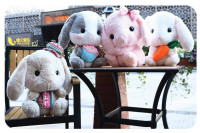 40cm super cute amuse japanese lolita loppy rabbit plush toy, bunny stuffed animal doll stuffed toy valentines gift