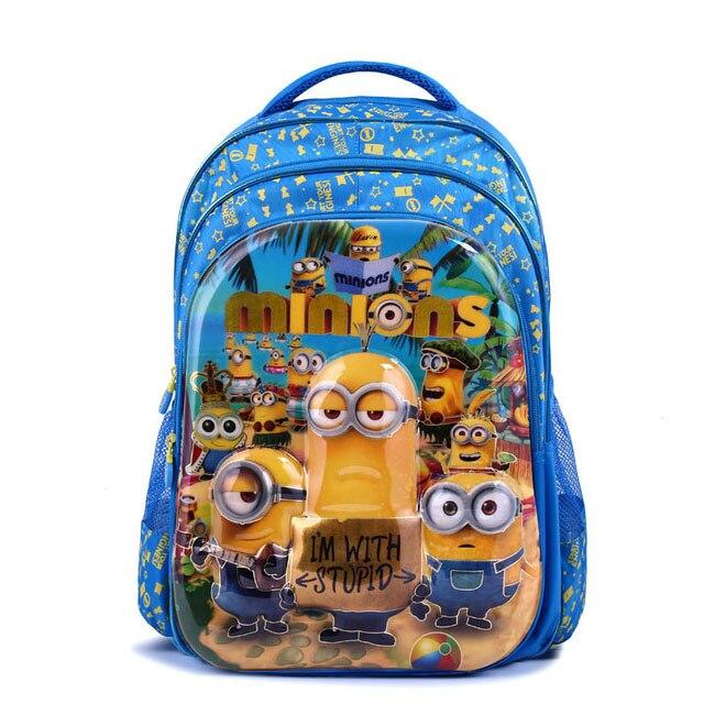 2016 new cartoon 6D Minions school bags for boys children backpacks kids waterproof schoolbag girls mochila