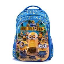 Cartoon 6D Spiderman Minions School Bags For Boys Children Backpacks Kids Waterproof Schoolbag Girls Mochila Escolar