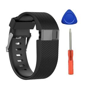 Image 5 - Pour Fitbit Charge HR remplacement bracelet de montre bracelet de montre en Silicone pour Fitbit Charge HR activité Tracker boucle en métal bracelet de poignet