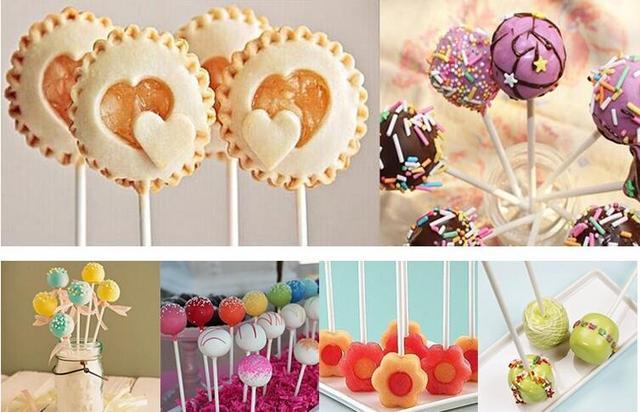 7 cm/14 cm Lollipop Bastone di Carta per Alimenti Pop Sucker Spiedi Torta Pop Spiedi Per Lollypop Caramella di Zucchero al cioccolato Pole GYH