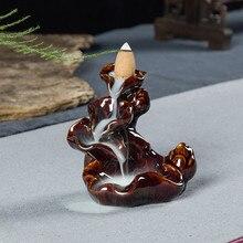 Конусный ладан фарфоровый керамический, с обратным потоком ладан горелка держатель буддийский чистый натуральный для гостиной офиса йоги студии