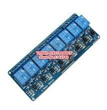 Frete grátis 1 PC 5 V 8-Channel Módulo de Relé Board para Arduino AVR MCU PIC ARM DSP Eletrônico Com optoacoplador