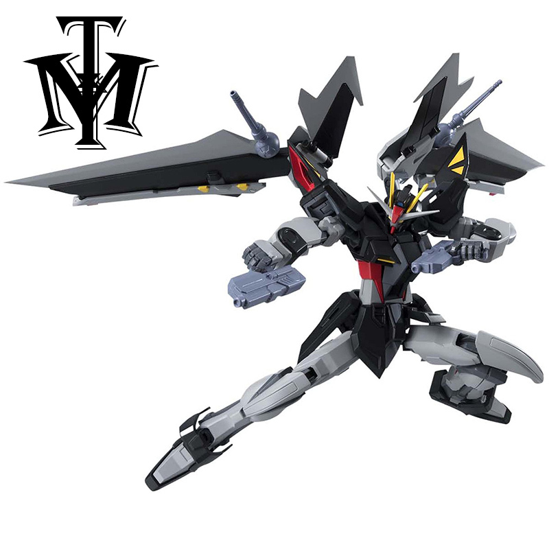 Anime Gaogao HG 1/144 GAT-X105E+AQM/E-X09S Strike Noir Gundam model hot kids toy action figure assembled Robot doll puzzle gift 1