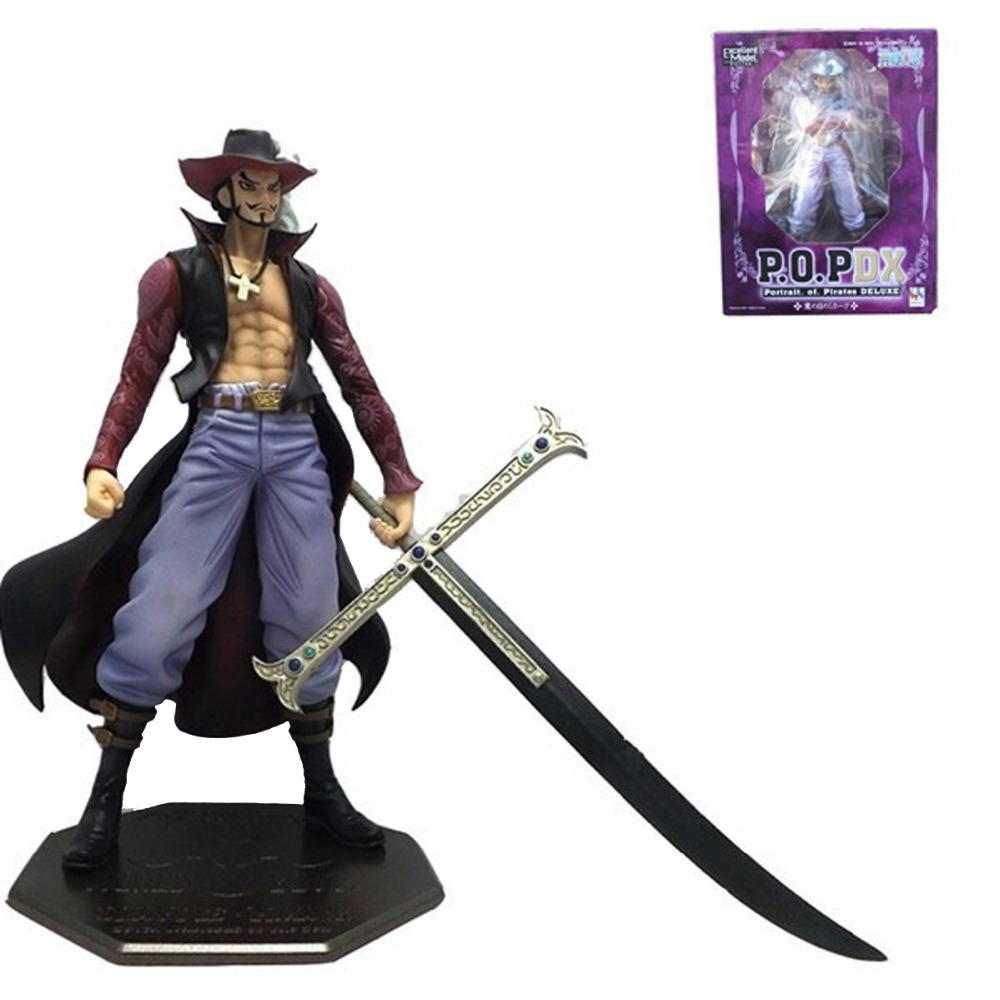 One Piece Anime Dracule Mihawk Hawk Eyes 22cm/8.7 Figure New in Box Free Shipping free shipping anime one piece dracule mihawk pvc action figure collection toy 6 15cm