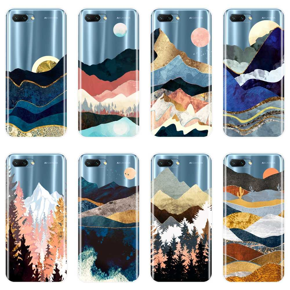 Phone Case For Huawei Honor 7 8 9 10 Lite Case Silicone Mountain Sun Back Cover For Huawei Honor 7 7S 7X 7A 7C Pro 10 9 8 8X MAX