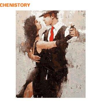 فرملس راقصة دهان داي بواسطة أرقام الطلاء على قماش مجموعات الاكريليك اللوحة مع إطار خشبي للمنزل جدار صورة فنية الفني