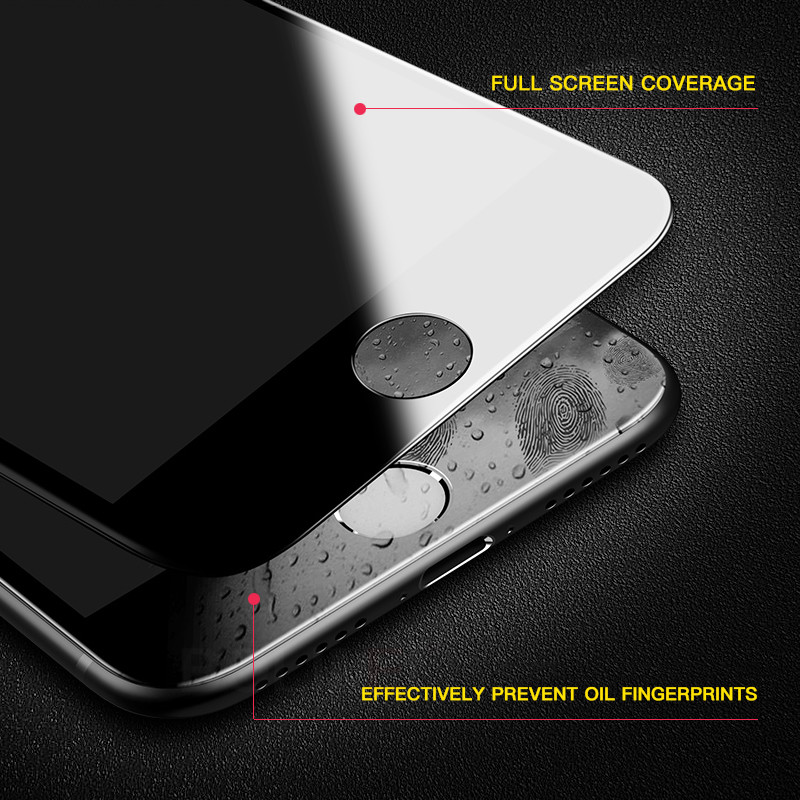 3D Soft Edge Full Cover Protection Glass on the For iPhone 6 6s Plus glass 8 7 Plus Tempered Glass For iPhone 6 Screen Protector 2