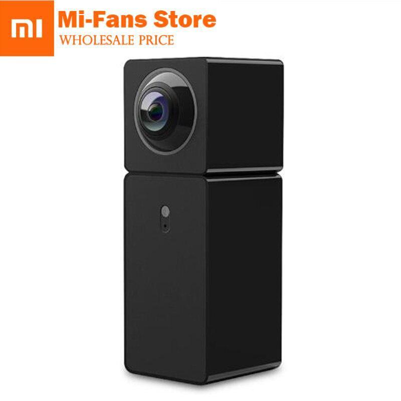 New Xiaomi Hualai Xiaofang 1080P Dual Lens Panoramic View Smart WIFI IP Camera Xiaofang Dual CMOS Camera Smart Home Black QF3